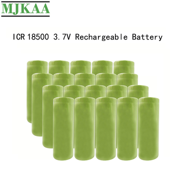 MJKAA 20PCS 3.7V 2000mAh 18500 Lithium Rechargeable Battery with Li-ion Cell for Led Flashlight Headlight Mechanical Mod