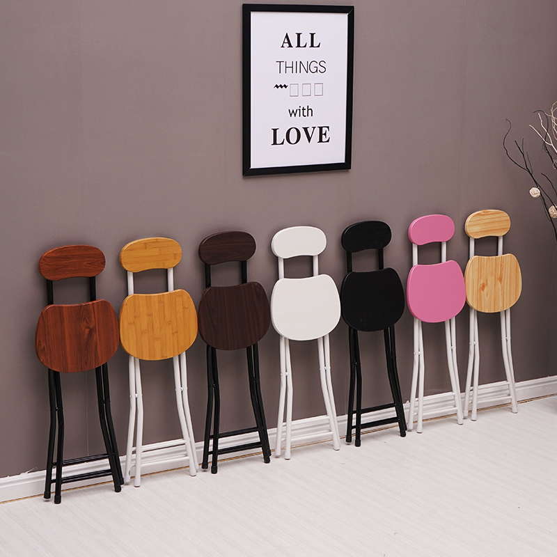 Modern Folding Stool Restaurant Dining Chair Indoor Office Meeting Computer Stool Nordic Home Bedroom Learning Folding Stool