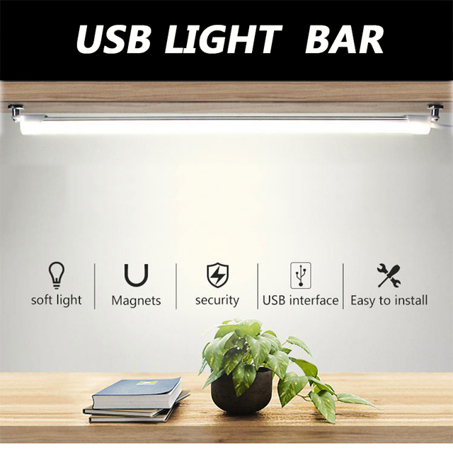 5V Modern Table Lamp with Usb Port 3W/5W Dimmable LED Reading Book Light Super Bright LED Light Bar for Kitchen Office Study