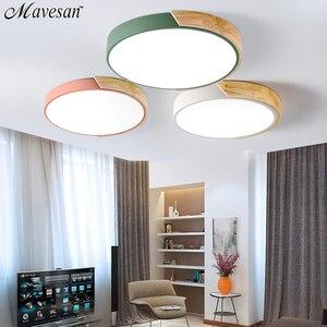 Image 1 - Luces de techo LED de estilo nórdico modernas para dormitorio, mando a distancia para 8 20 metros cuadrados, accesorio de iluminación