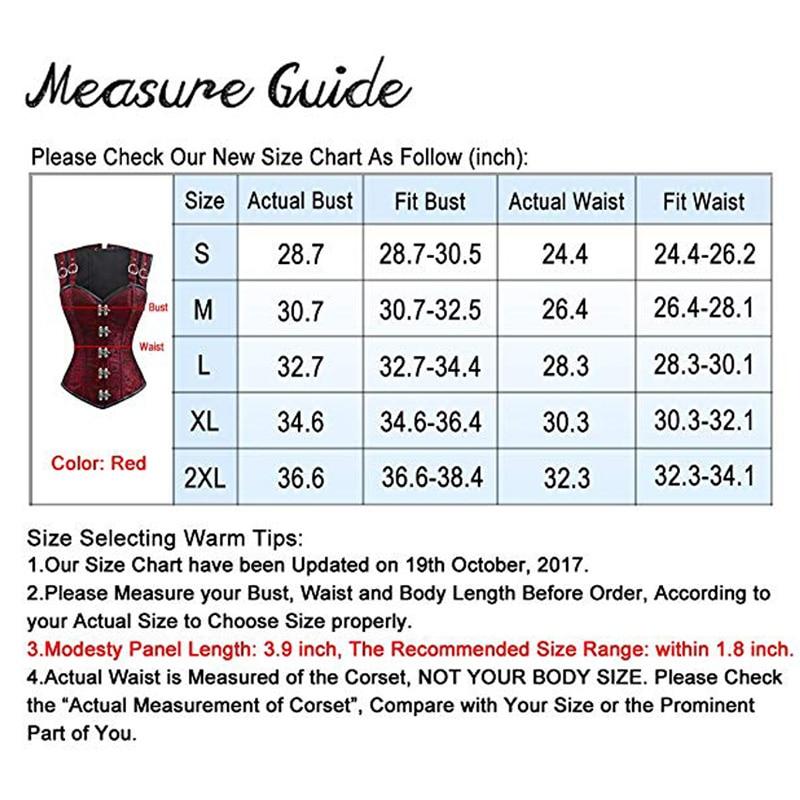 Women's Steampunk Gothic Corset Steel Boned Lingrie Sexy Overbust Corset Vest Bustier Bodyshaper Top