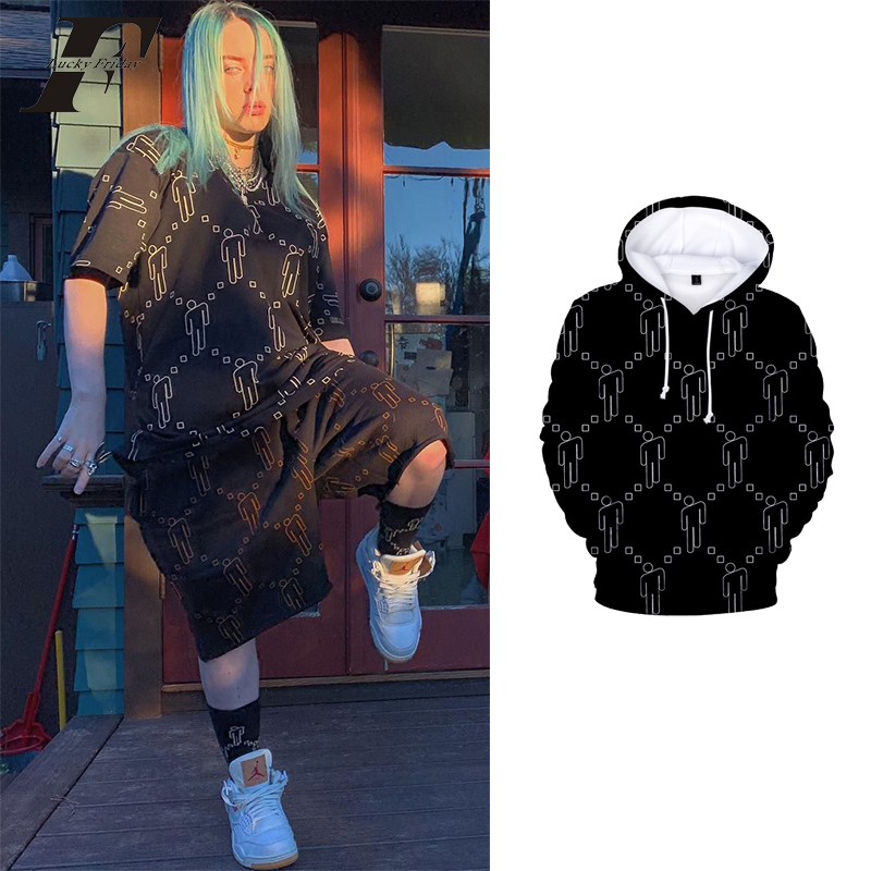 Billie Eilish 3D Hoodies Women/men Streetwear Hip Hop Autumn Hip Hop Billie Eilish Sweatshirt Oversized Long Sleeve Clothes