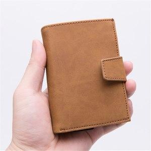 Image 5 - BISI GORO 2019 New Style RFID Card Holder And Minimalist Wallet Metal Men Women Single Box Aluminium Blocking Holder for Cards