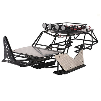 for 1/10 SCALE RC Axial Wraith AX90018 90020 Metal Roll Cage Fame Body with Roof Rack and Metal Sheets