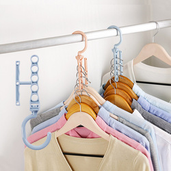 Rotating Five-hole Magic Hanger with Handle for Sorting and Drying Creative Closet Organizer Folding Clothes & Scarf Drying Rack