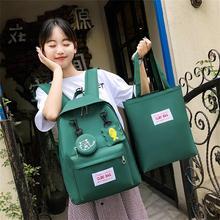 Backpack Travel Teenage Girls Schoolbag Canvas bag Cartoon Alphabet Student Casual Large Capacity 2 PC Set mochila escolar 2 цены