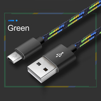 cable samsung Fashion Aluminum Alloy 2A Phone Charging Cable Nylon Braided Data Cable For Samsung Huawei Xiaomi Android Phone Accessories (2)