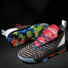 New Basketball Shoes Lebron Shoes for Men Women High-Top Breathable Nonslip Basketball Sneakers Shockproof Mens Sport Shoes цена
