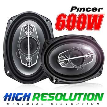 2 Pcs 600W 12V 6.9 Inch Car HiFi Coaxial Speaker Vehicle Door Auto Audio Speaker Music Stereo Full Range Frequency Loudspeaker