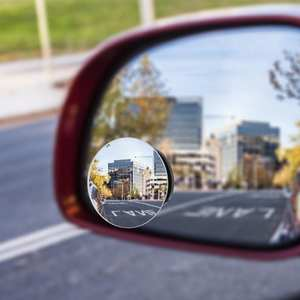 Mirror Blind-Spot Vehicle Wide-Angle Auto 2pcs 360-Degree Parking Car Rimless Universal