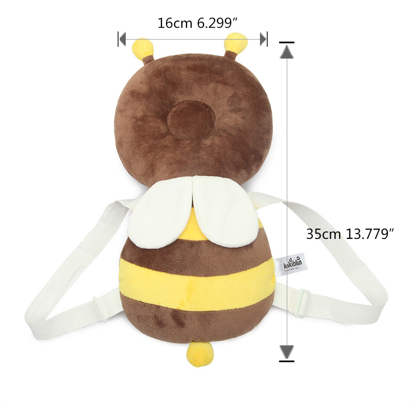 Купить с кэшбэком Baby Head Back Protector Safety Pad Infant Toddler Newborn Cartoon Harness Headgear Newest Cormer Guards Bee Angel Beetle