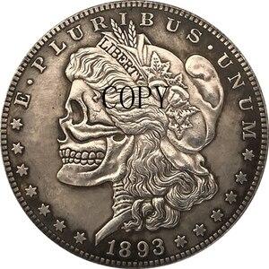 Медная копия Hobo Nickel two face 1893, США, морганский доллар