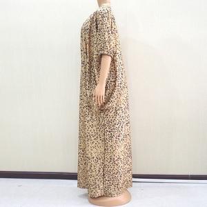Image 4 - 2019 moda afrykański rękaw w kształcie skrzydła nietoperza wzór lamparta drukowana tkanina na sukienkę Plus rozmiar