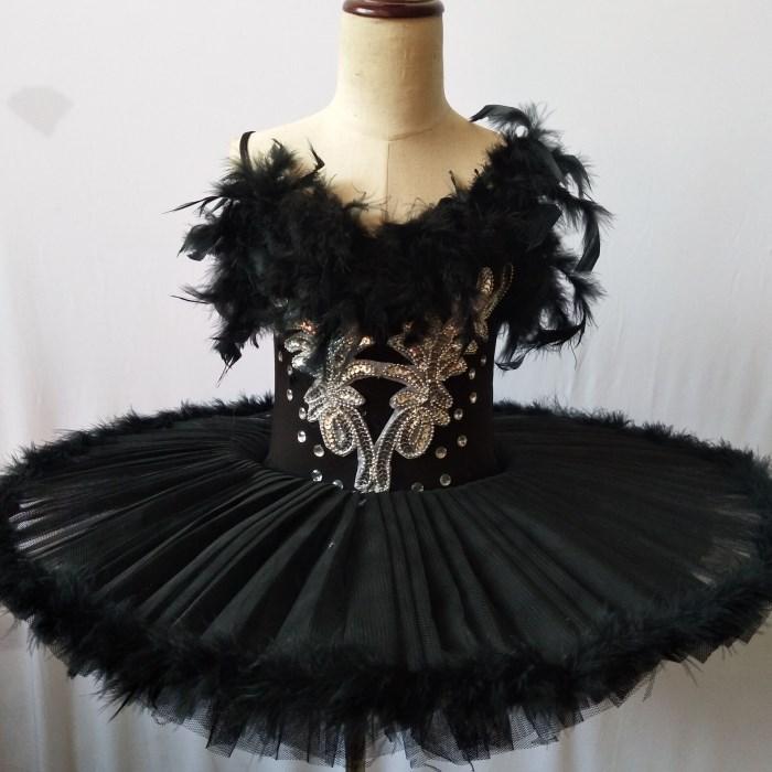 White Black Tutu Ballet Feather Swan Lake Dress Women Child Girls Professional Ballet Tutu Ballerina Dress Kids Girls Dance Wear