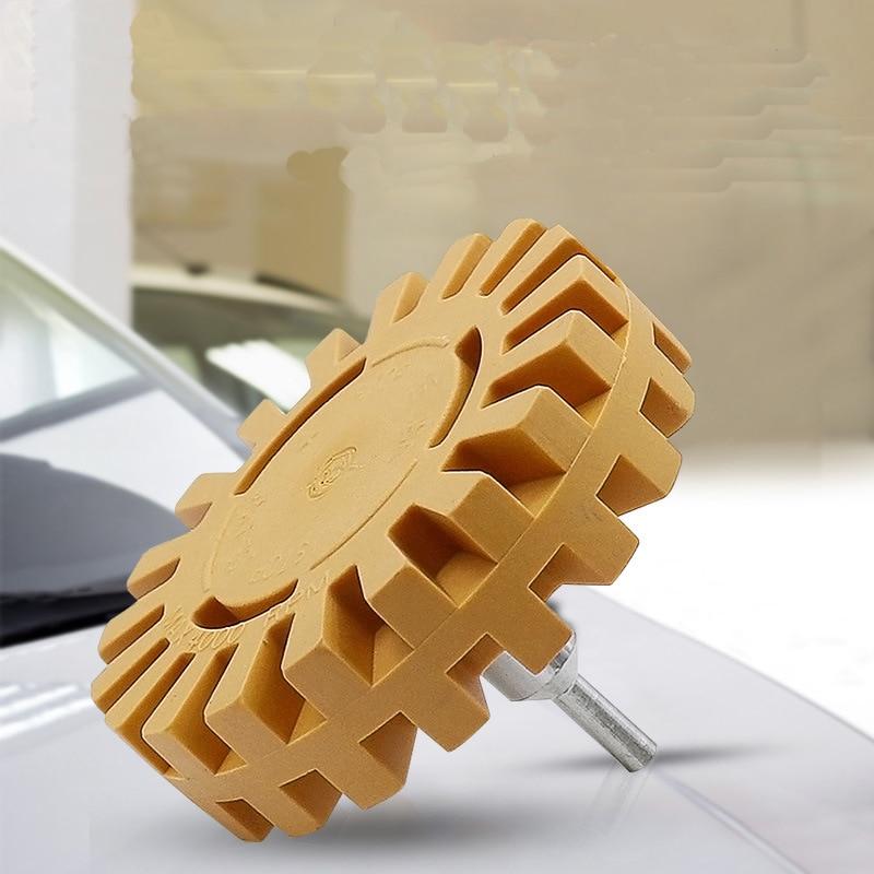borracha roda para remover adesivo adesivo de