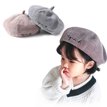 Baby Winter Hat Cap for Girl Embroidery Berets and Autumn Newborn Photography Props
