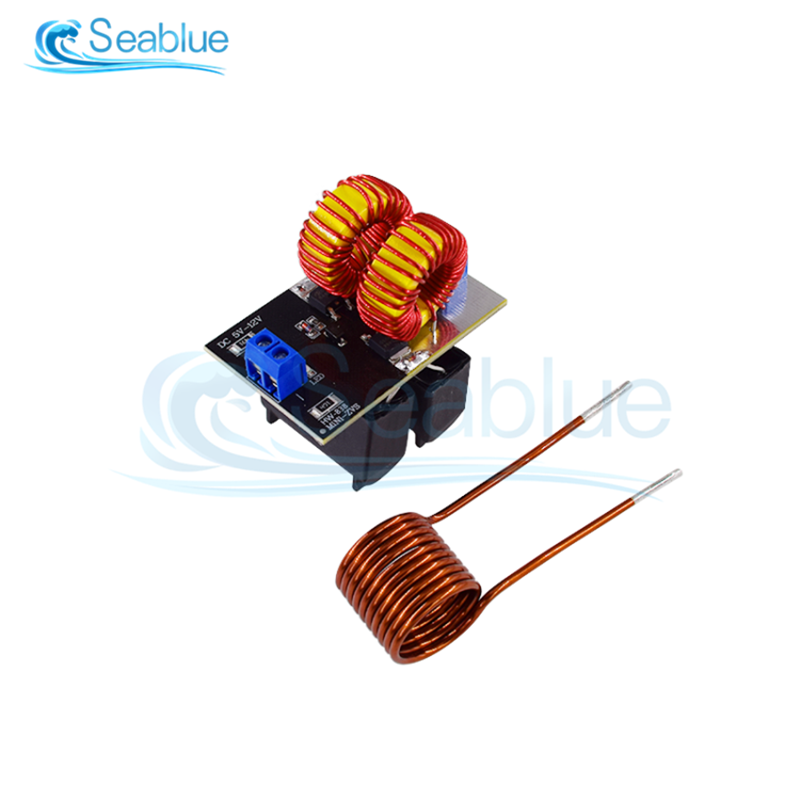 DC 12V 20A 120W Mini ZVS Induction Heating Board Flyback Driver Heater DIY Cooker+ Ignition Coil Hot Sale