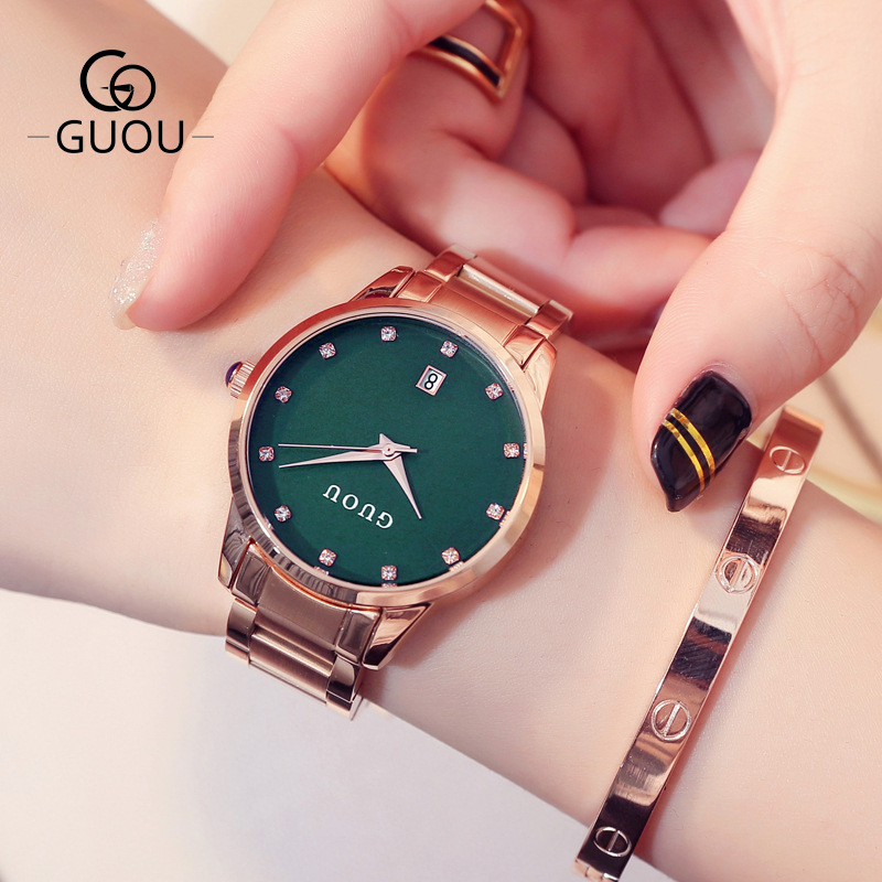 Relogio Feminino Fashion Women Quartz Date Watches Women Rose Gold Watch Casual Stainless Steel Dress Wristwatch zegarki damskie
