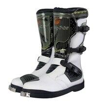 Profesyonel erkek PRO BIKER motosiklet binici çizmeleri yarış Motocross çizmeler motosiklet nefes çizmeler botas ayakkabı