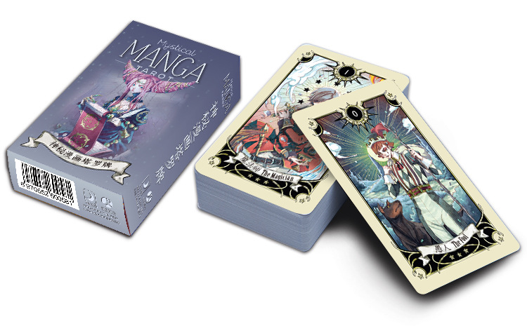 High Quality Tarot Cards Mystical Manga Tarot Cards English/Chinese Factory Made Game, Board Game