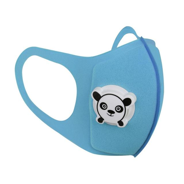 Motorcycle Mask Reuseable Double Filters Valve Anti-pollen Kid Print Breathable Cartoon Motorcycle Protection Mask 1