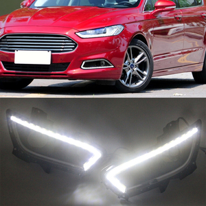 Image 5 - 1 Set Led DRL Daytime Running Light car styling Waterproof With Fog Lamp Hole For Ford Mondeo Fusion 2013 2014 2015 2016
