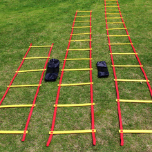 Adjustable Outdoor Soccer Football Training Ladder Durable Agility Ladder for Speed Training Fitness Football Agile Pace Black