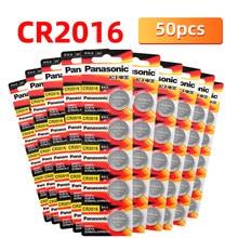 Оригинальный PANASONIC 50 шт./лот cr2016 BR2016 KCR2016 ECR2016 кнопочные элементы питания 3 в монета литиевый КПК MP3-плеер Пульт дистанционного управления