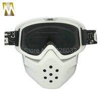 Schwarz Smoked Objektiv Motorrad Brille Maske Motocross Gesicht Maske Brille Helm Brille Winddicht off Road Motocross Helme