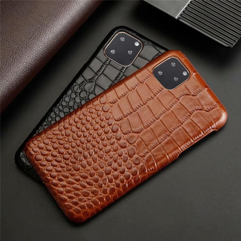 Genuine Leather Crocodile Grain Case for iPhone 11/11 Pro/11 Pro Max