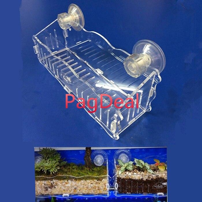 Hang-on Nursery Plant Glass Cup Pot Fish Tank Aquascaping Cultivation Mangrove Planting Aquarium Decor Breeding Hatchery Box