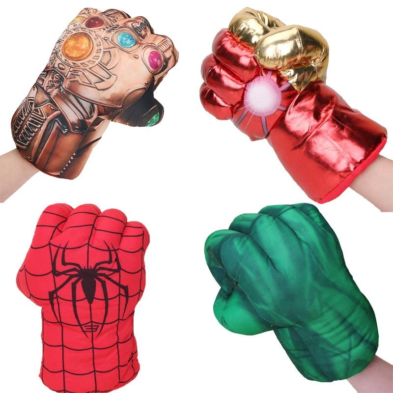 One-hand Marvel Avengers Endgame Incredible Superhero Figure Spider Man Thanos Toys Iron Man Boxing Gloves Boy Gift Hulk Gloves