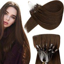 VeSunny Micro Ring Hair Extensions Human Hair Micro Beads Extensions Invisible Human Hair Micro Loop Real Hair Extensions