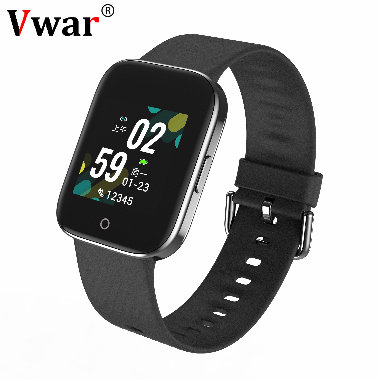 Vwar Bluetooth 5.0 Fashion Smart Watch Men Women IP68 Waterproof Smartwatch Heart Rate Fitness Tracker For Android Apple Phone