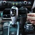 คาร์บอนไฟเบอร์คาร์บอนสไตล์เกียร์มือจับปุ่มสติกเกอร์สำหรับ BMW 3 Series 3GT F30 F34 ภายในอุปกรณ์เสริม