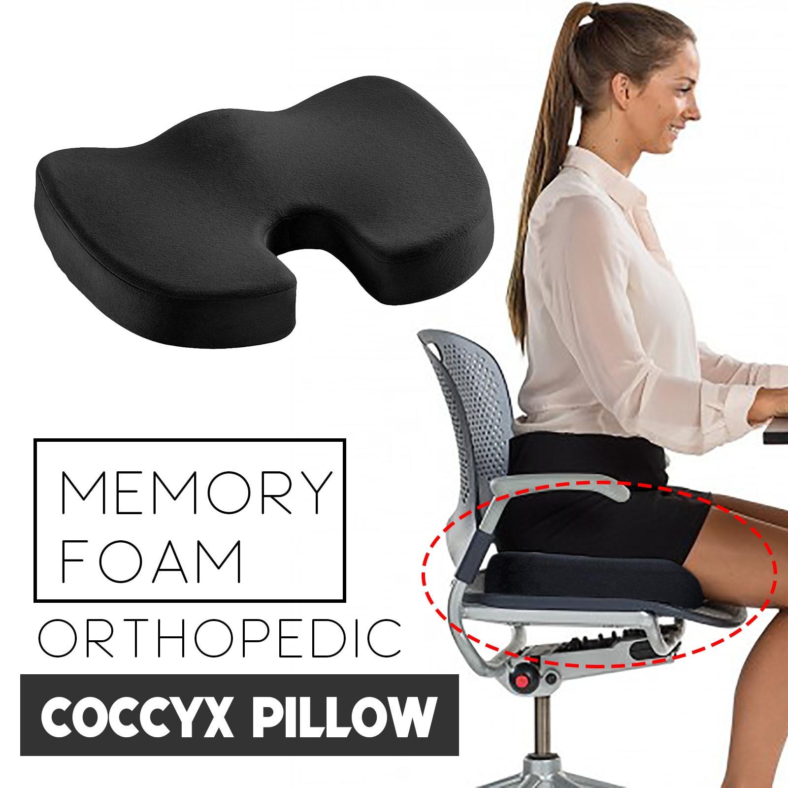 40 # gel ortopédico memória almofada espuma u coccyx assento de viagem massagem cadeira de escritório do carro proteger saudável sentado almofadas respiráveis
