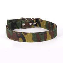 Fahsion Nylon Clothes Camouflage Dog Collar Adjustable Puppy Cat Collar for Medium Big Dogs Pet Supplies Accessories  - buy with discount