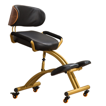 Ergonomically Designed Kneeling Chair Wood Modern Office Furniture Computer Chair Ergonomic Posture Knee Chair For Kids Leather Bag