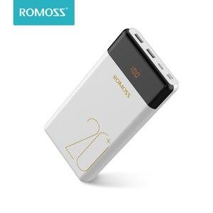 20000 мАч ROMOSS LT20 Pro power Bank портативный внешний аккумулятор с QC двухсторонняя Быстрая зарядка портативное зарядное устройство для телефонов пла...