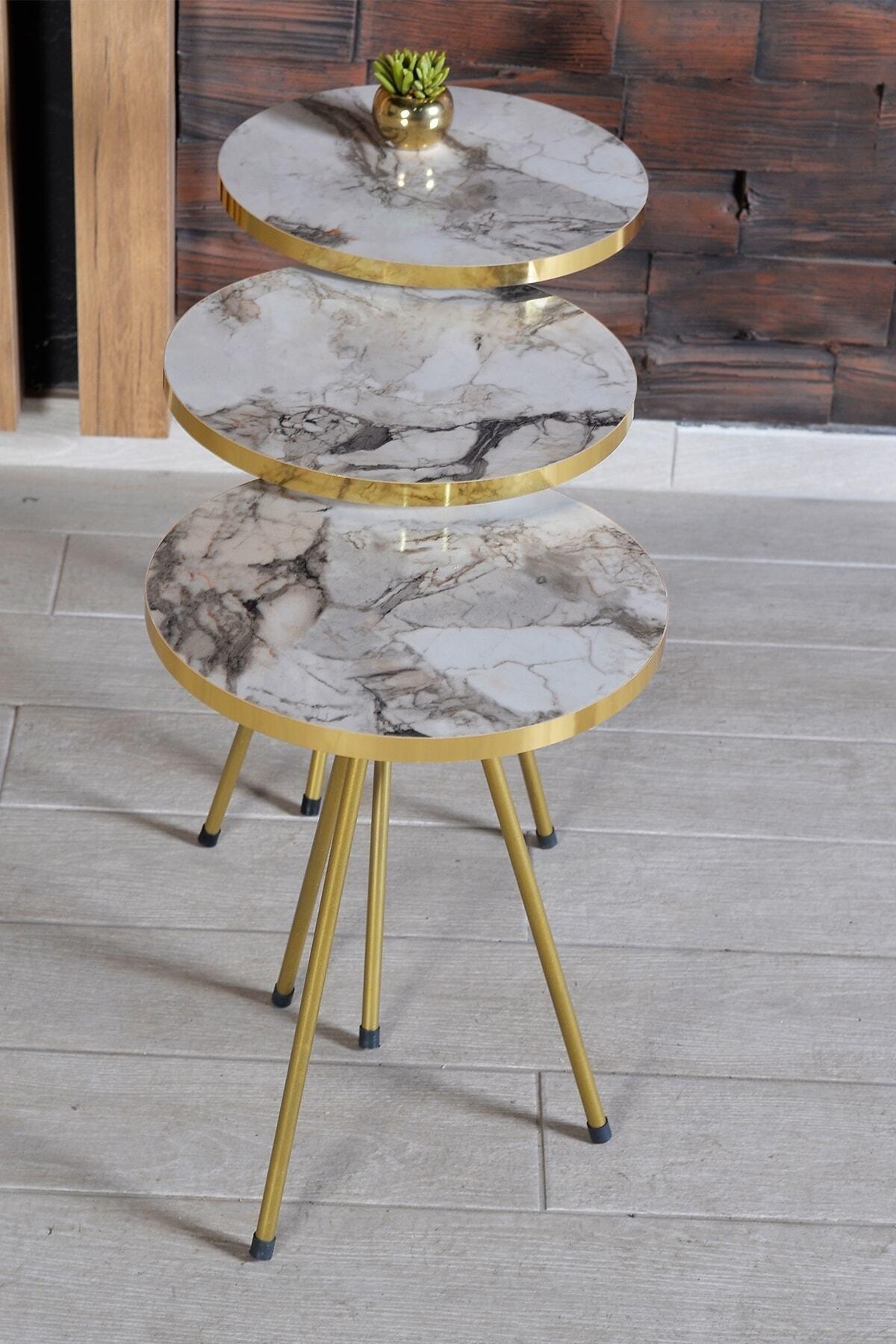 Современный Zigon Кофе стол 3 шт. скандинавском стиле с металлическим носком золотистого цвета на крепление боковой Кофе стол Чай Кофе Услуги ...