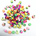 30pcs10mm фрукты бусины Полимерная глина Spacer Бусины для самостоятельного изготовления ювелирных изделий браслет аксессуары