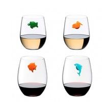 12 шт силиконовый маркер для вина с морскими животными, креативная Питьевая чашка, идентификатор, стакан, знак(смешанные цвета