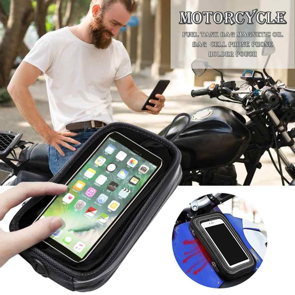 Motorcycle Bike Magnetic Pocket Holder Bag for Mobile Phone GPS Smartphone
