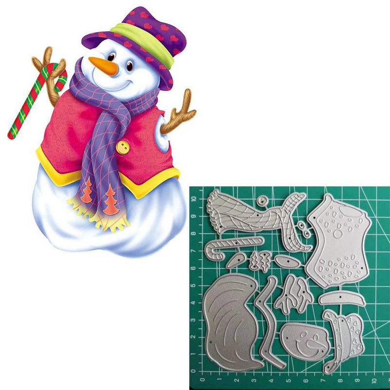 Image 4 - Snowman Christmas Cutting Dies 2019 Vintage Scrapbook Album-in Cutting Dies from Home & Garden