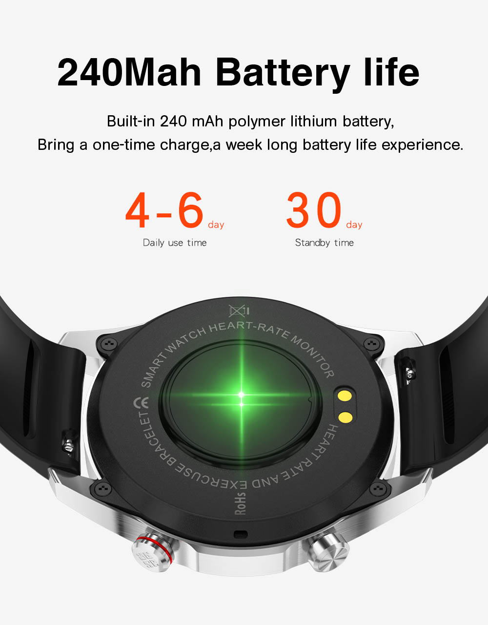 Ha023698fba8c4d1f8b32f406ac140254g E1-2 Smart Watch Men Bluetooth Call Custom Dial Full Touch Screen Waterproof Smartwatch For Android IOS Sports Fitness Tracker