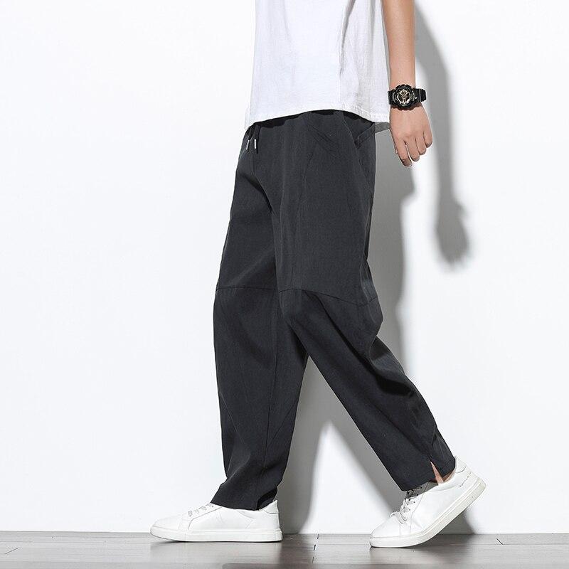 Pantalones Harem De Verano Y Otono Para Hombre Ropa Informal De Algodon De Hip Hop Pantalones Sueltos Para Hombre Pantalones Casuales Para Hombre Wan K8068 Black Linio Peru Ge582fa0hb41nlpe