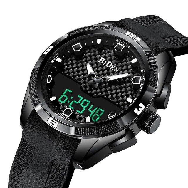 Relogio Masculino męskie sportowe zegarki kwarcowe cyfrowy zegarek led w stylu wojskowym mężczyźni Casual elektronika zegarki na rękę Relojes