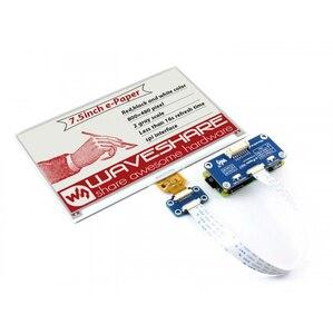 Image 3 - Waveshare 800*480, chapeau daffichage e ink 7.5 pouces pour Raspberry Pi 2B/3B/Zero WThree couleur: rouge, noir blanc, Interface SPI, pas de rétro éclairage
