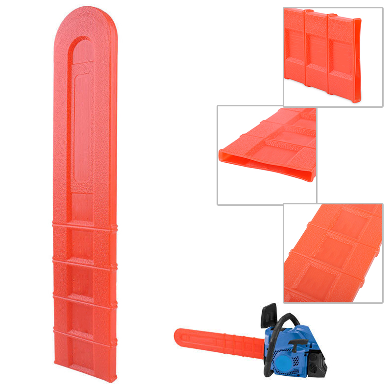 0.55 InchOrange Chainsaw Bar Universal Cover Accessories Guide Plate Set Cover Scabbard Guard For 12 14 16 18 20 Inch Chainsaw