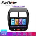 Funrover автомобильный мультимедийный плеер Автомобильный dvd Радио gps android 9 0 2.5D + IPS головное устройство для Mitsubishi ASX 2010-17 стерео навигация RDS